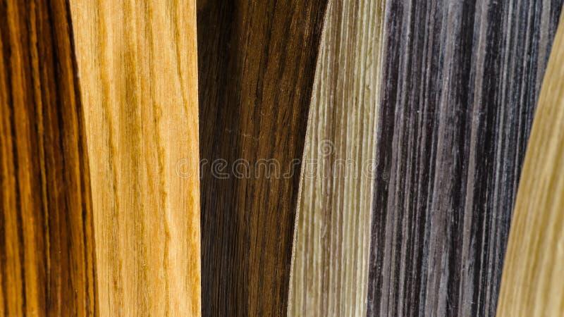 Types en bois de couverture réglés images stock
