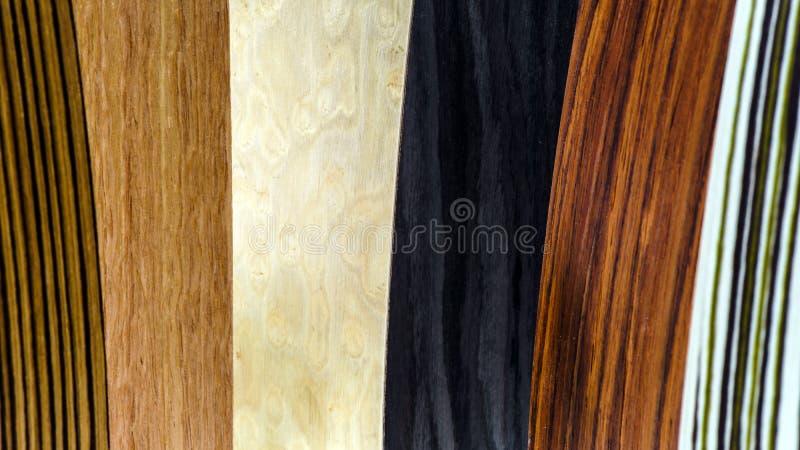Types en bois de couverture réglés photo stock