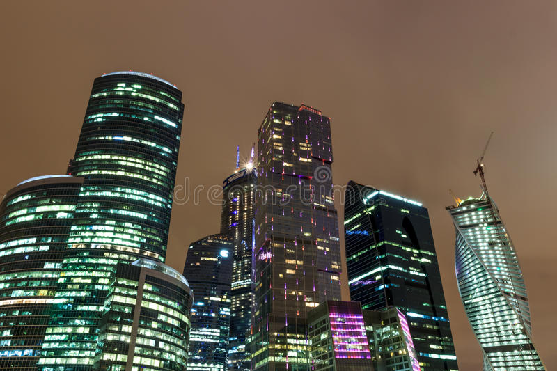 Types of evening Moscow stock images