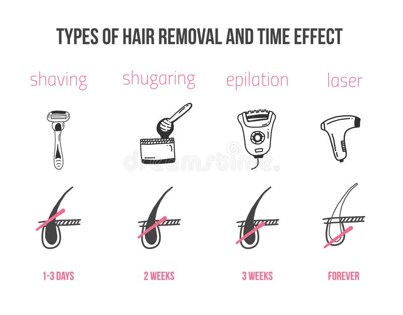 Follicle Hair Removal Stock Vector  Illustration Of Skincare
