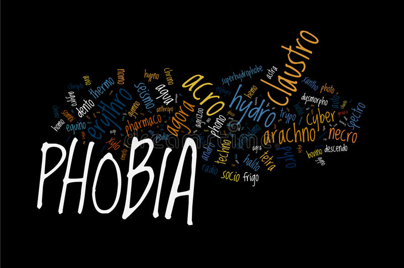Download Types of Phobia stock illustration. Image of fear, medical - 23958826