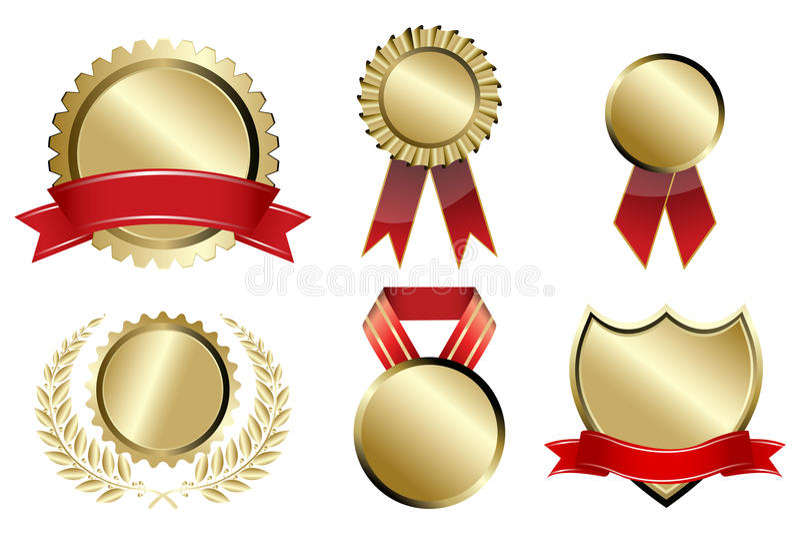 Types of prizes stock illustration