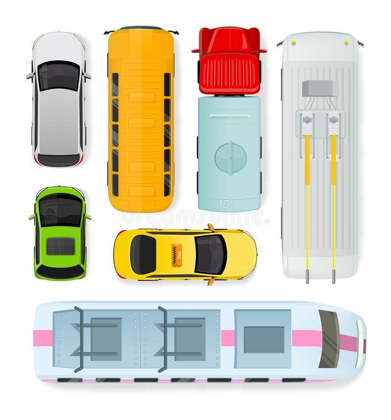 Types publics et privés de transport Vecteur illustration stock