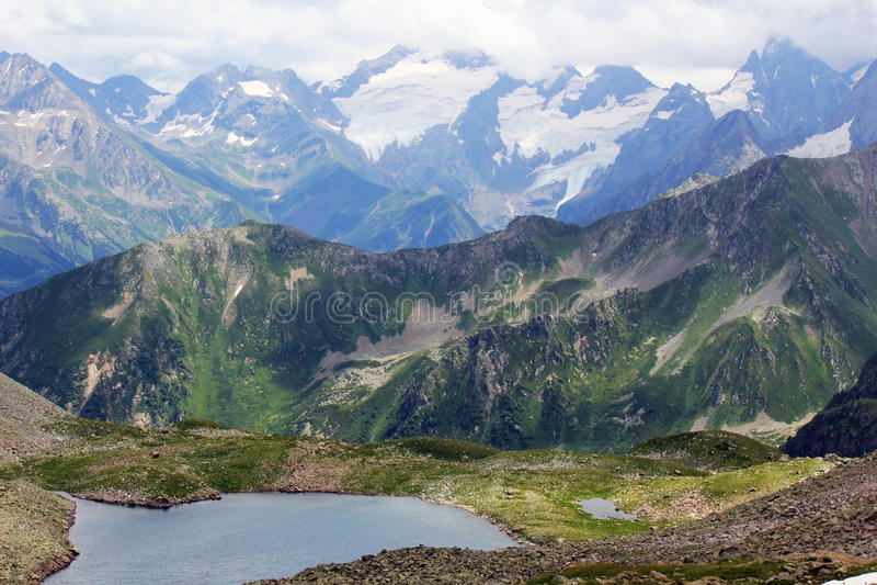 Types van de Bergen van de Kaukasus stock foto's