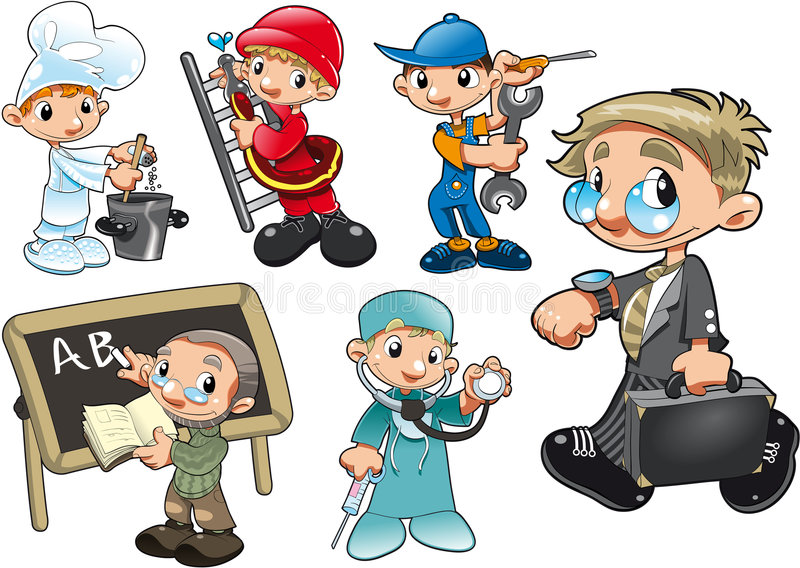 Types of Worker vector illustration