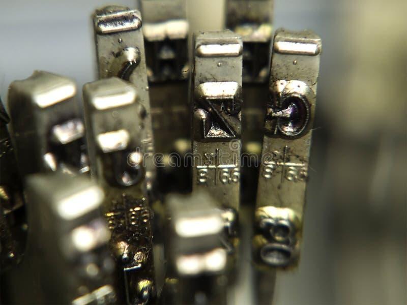 Typewriter. Close up of old typewriter stock images