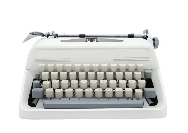Typewriter. Isolated on white background royalty free stock photo