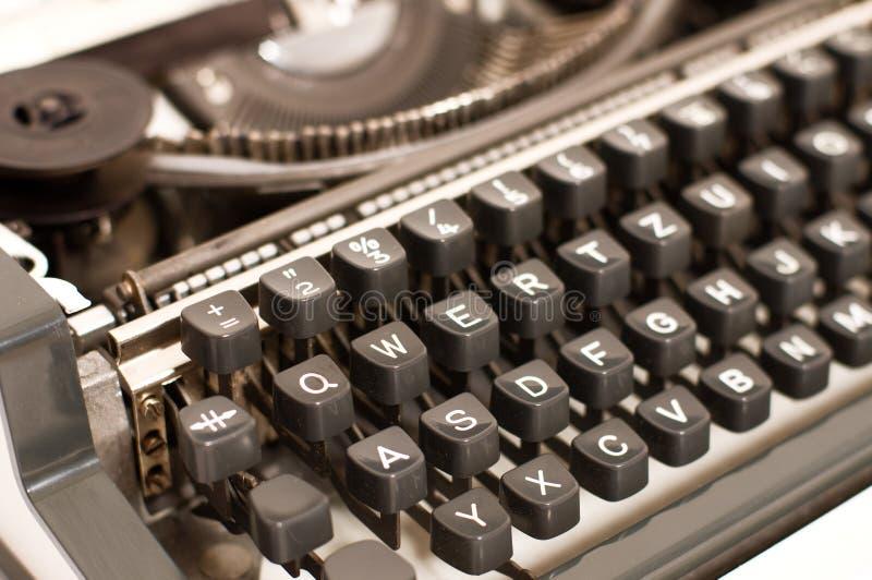 Typewriter. Old typewriter with standard keyboard stock photo