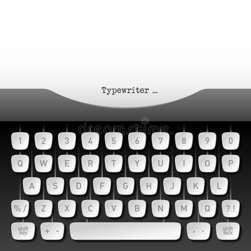 Typewriter. Whith paper sheet vector illustration vector illustration
