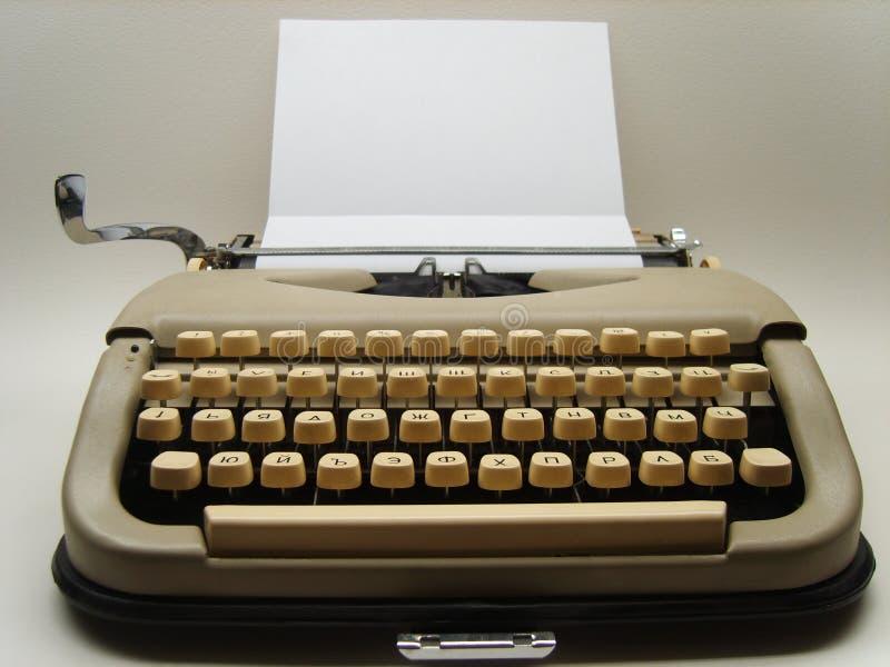 Typewriter. Photograph of old typewriter in studio royalty free stock photo