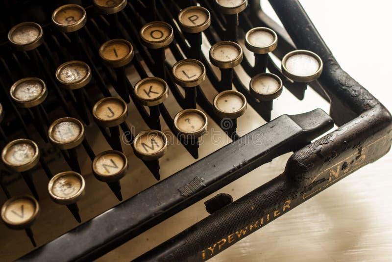 Typewriter antique, 1907 image libre de droits