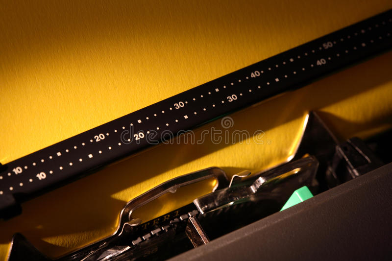 Download Typewriter With Blank Paper Stock Photo - Image: 33518284