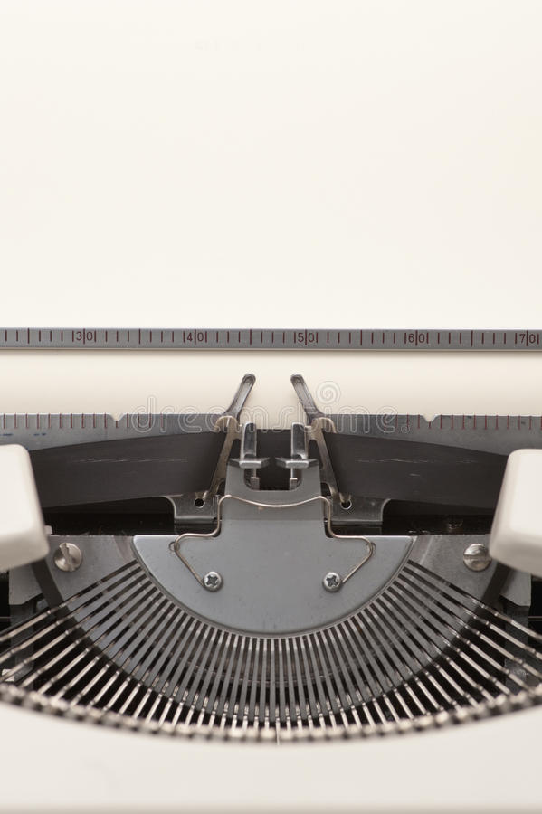 Download Typewriter With A Blank Paper Inserted Stock Image - Image: 23461273