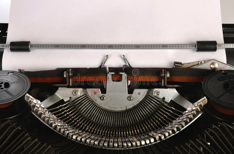 Download Typewriter With A Blank Sheet Of Paper Stock Image - Image: 28912639