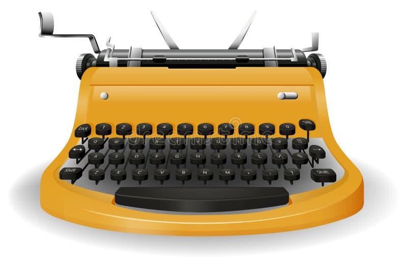 Typewriter. Close up typewriter with classic design vector illustration