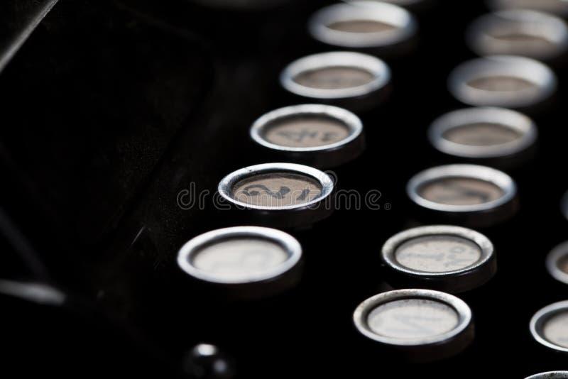 Typewriter detail royalty free stock photo