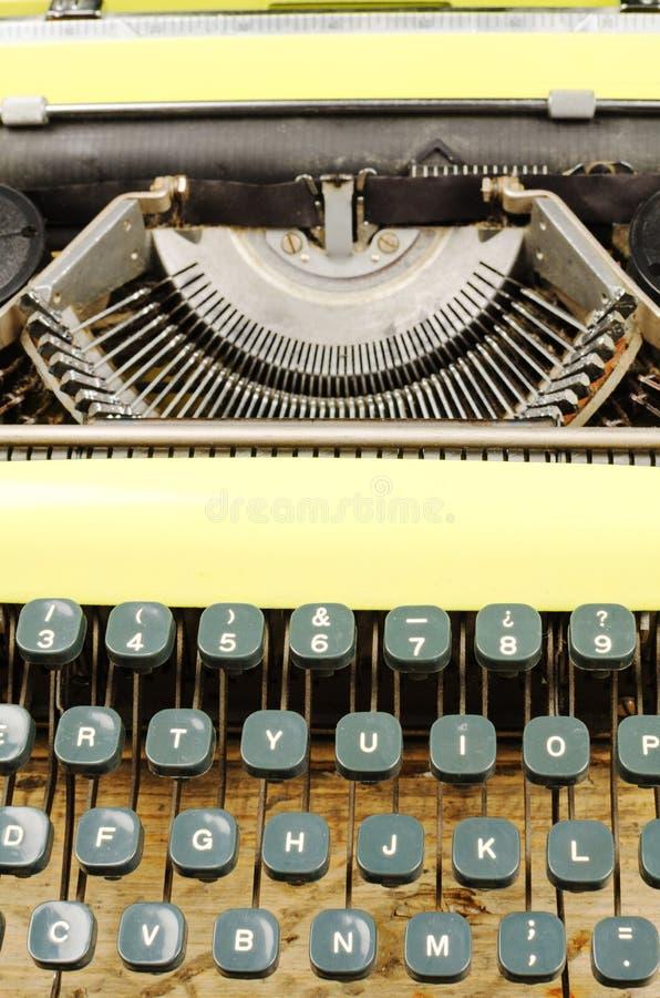 Typewriter. Full frame take of an old typewriter royalty free stock photo