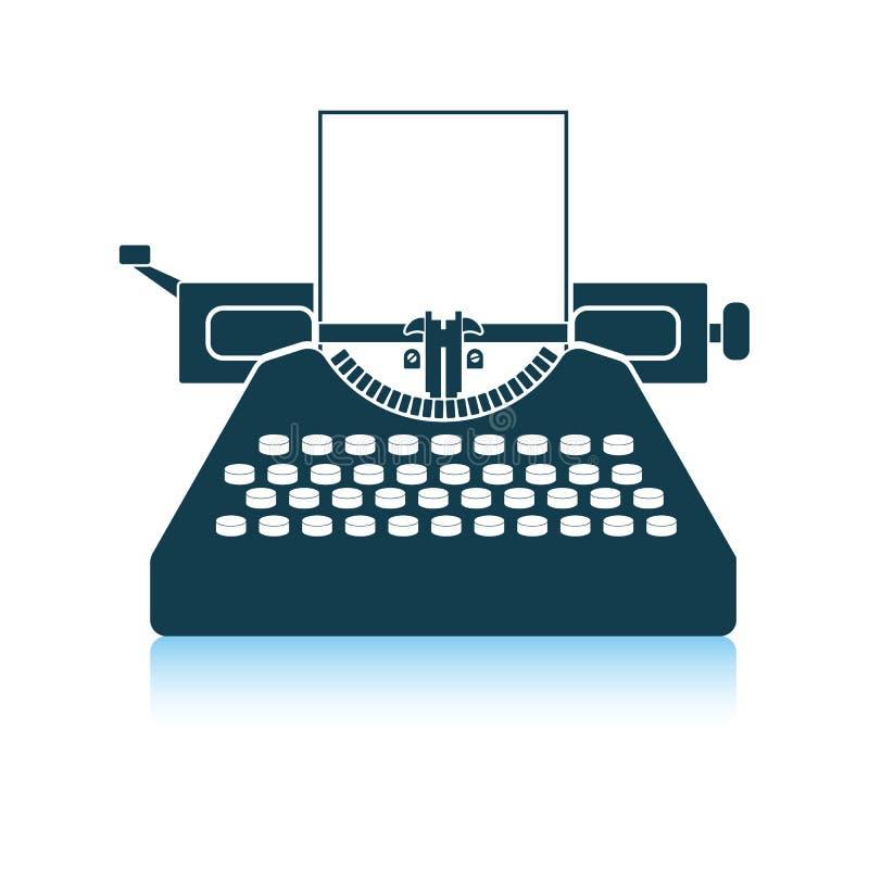 Typewriter icon. Shadow reflection design. Vector illustration vector illustration