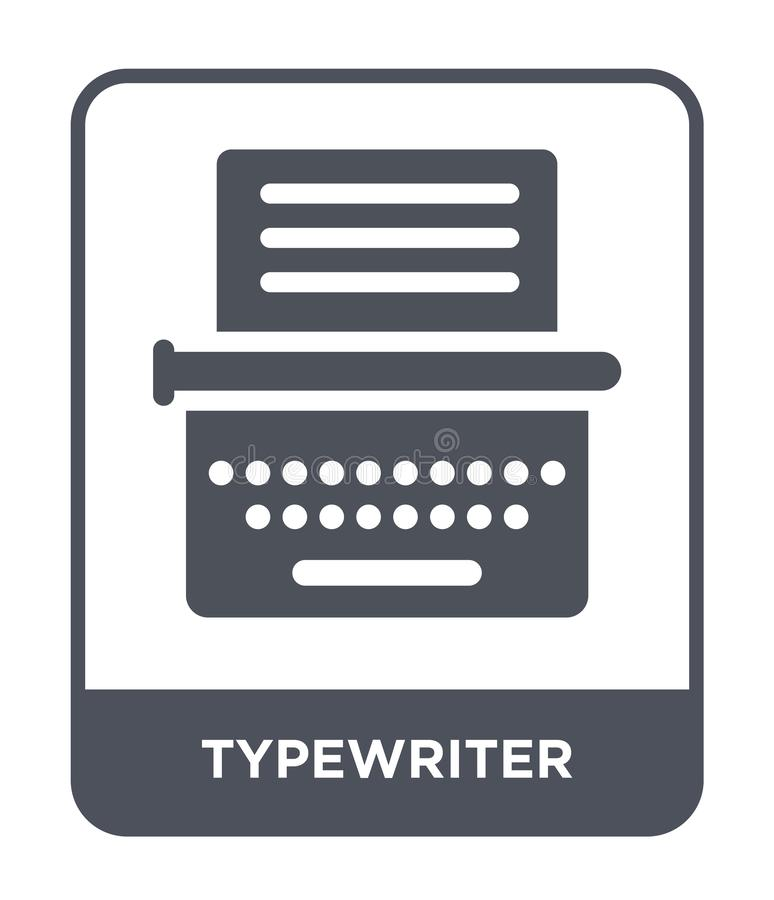 typewriter icon in trendy design style. typewriter icon isolated on white background. typewriter vector icon simple and modern stock illustration