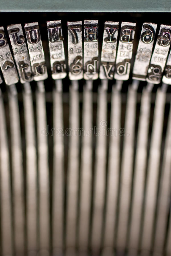 Typewriter. An image of typewriter characters royalty free stock images