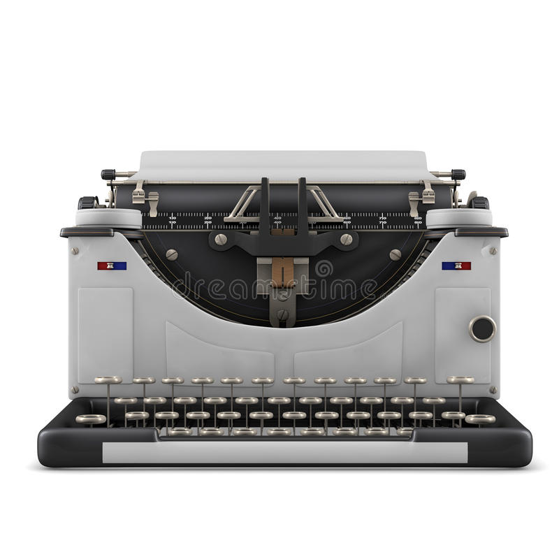 Typewriter. Isolated on white background vector illustration