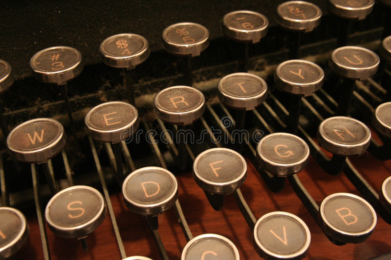 Typewriter keys stock photography