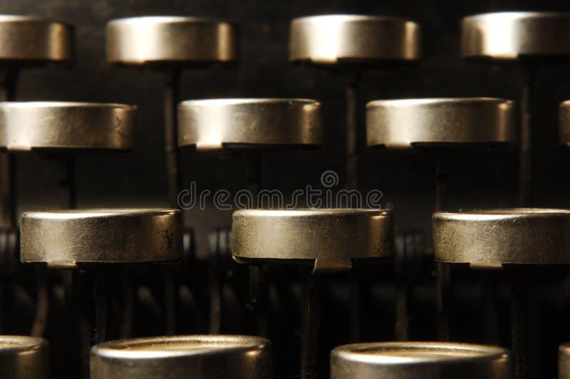Typewriter keys royalty free stock photo