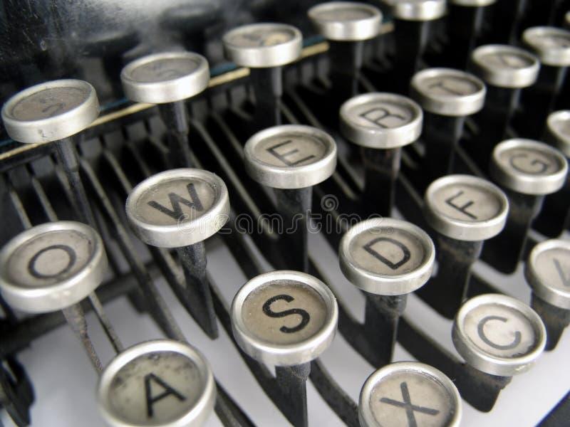 Typewriter keys stock photography