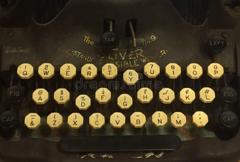 Typewriter keys. A photo of keys of an antique typewriter stock photos