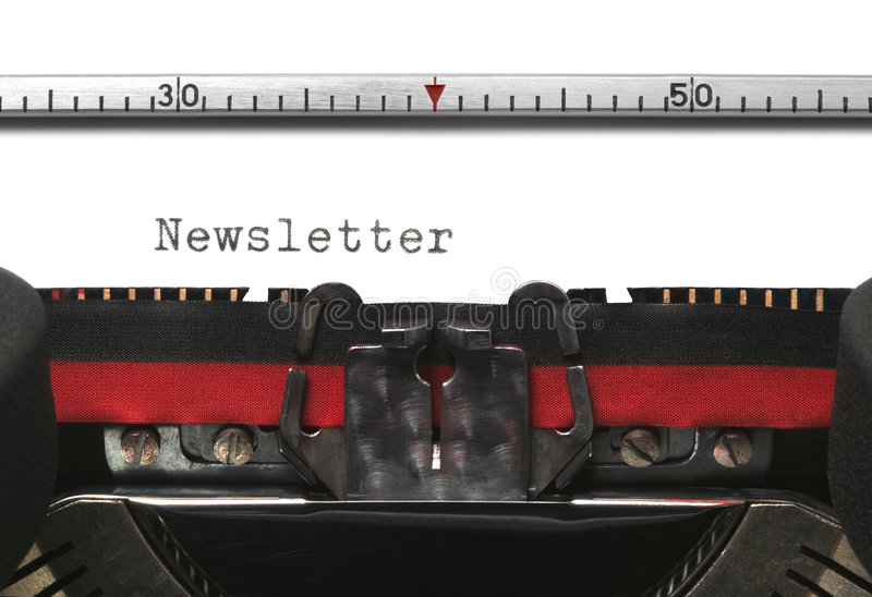 Typewriter Newsletter royalty free stock photo
