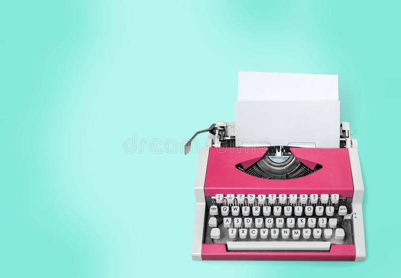 Typewriter. Old Retro Revival Typing Old-fashioned Obsolete Antique royalty free stock photos