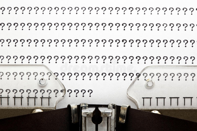 Download Typewriter QUESTION MARKS stock image. Image of antique - 21150951