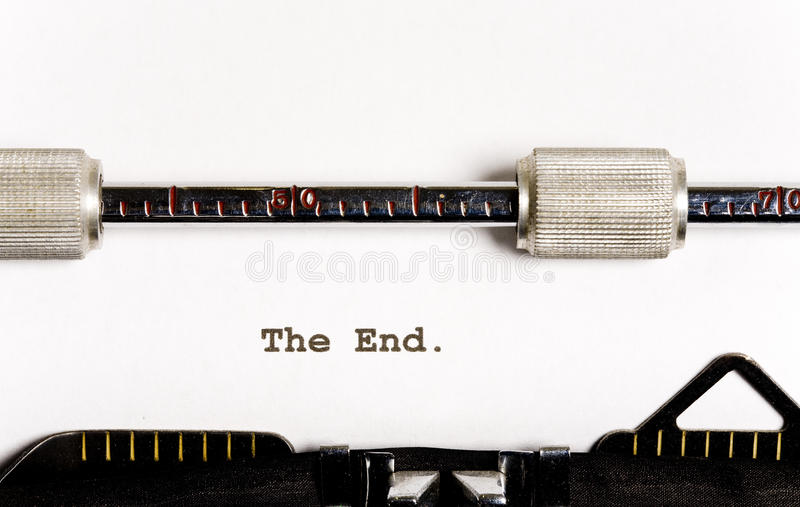 Typewriter text. Paper in old manual typewriter with text royalty free stock image