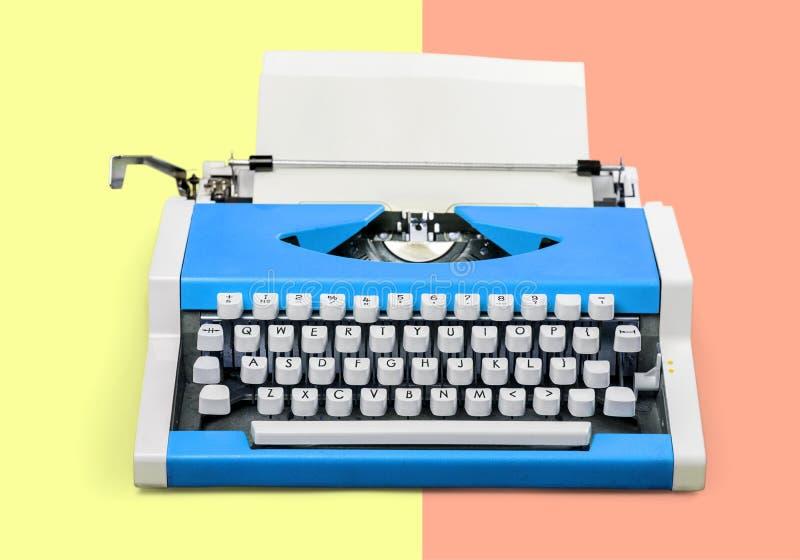Typewriter. Article author background blogger blue book royalty free stock photo