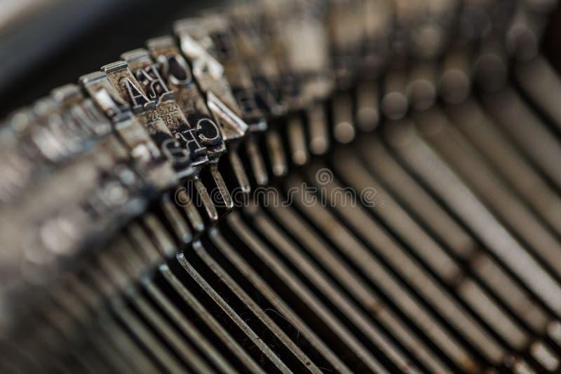 Typewriter. Old book macro retro revival typescript technology stock image