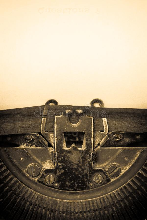Typewriter. Old book storytelling fairy tale writing paper stock photography