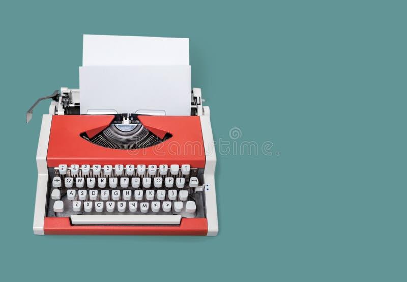Typewriter. Vintage author background type machine writer royalty free stock images