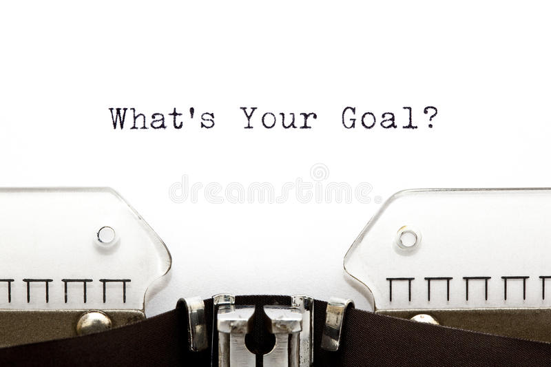 Typewriter Whats Your Goal royalty free stock photo