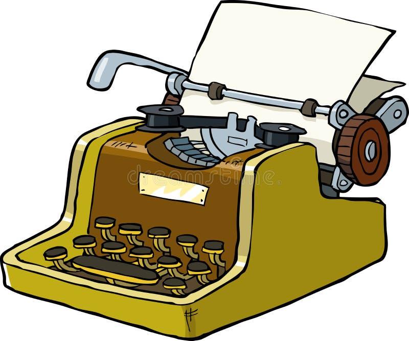 Typewriter. On a white background illustration vector illustration