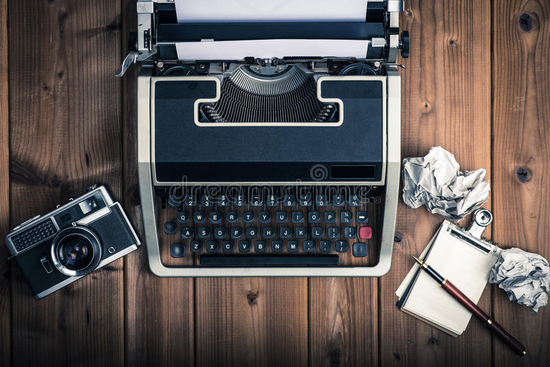 Typewriters and retro business image. Typewriter.retro business image.past royalty free stock photo