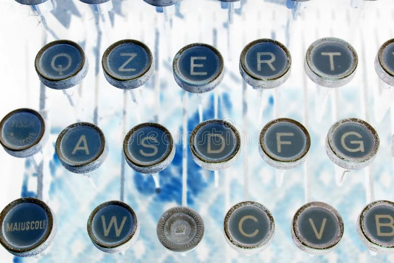 Typewritter keys stock images