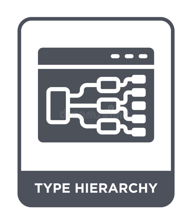 typhierarkisymbol i moderiktig designstil typhierarkisymbol som isoleras på vit bakgrund enkel symbol för typhierarkivektor stock illustrationer