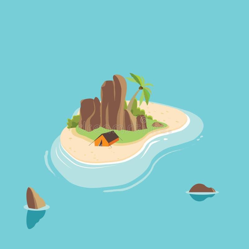 Download Typhography de la isla ilustración del vector. Ilustración de cabina - 64208900