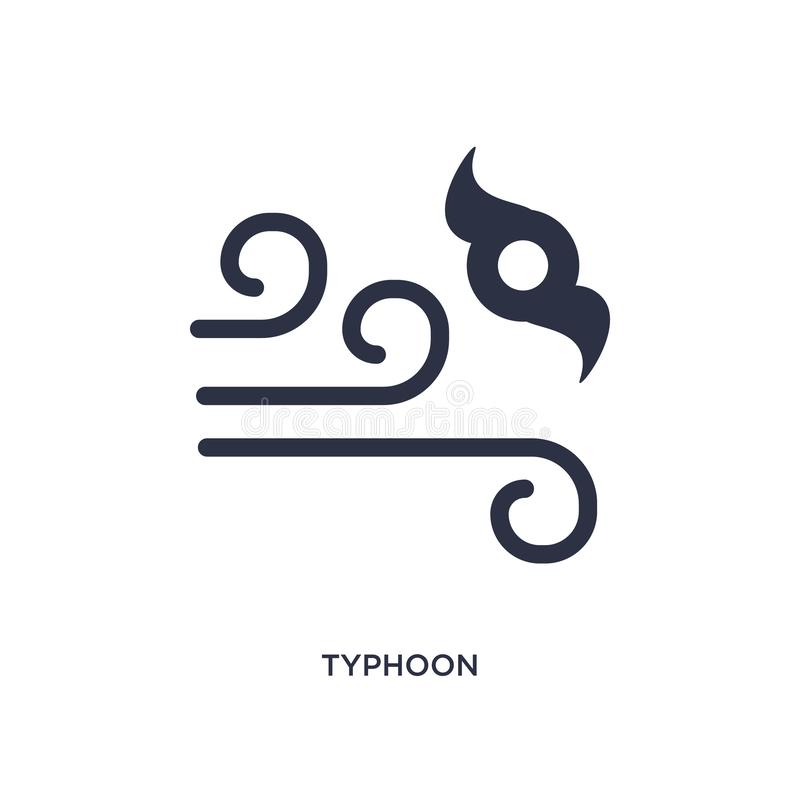 typhoon icon on white background. Simple element illustration from weather concept royalty free illustration