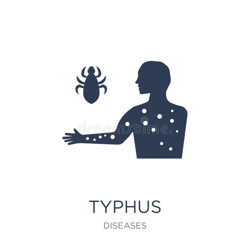 Typhus icon. Trendy flat vector Typhus icon on white background stock illustration