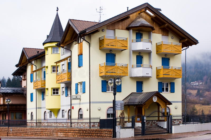 Typical alpine police barracks, Italy. Typical police barracks in an alpine village, Italy royalty free stock photo