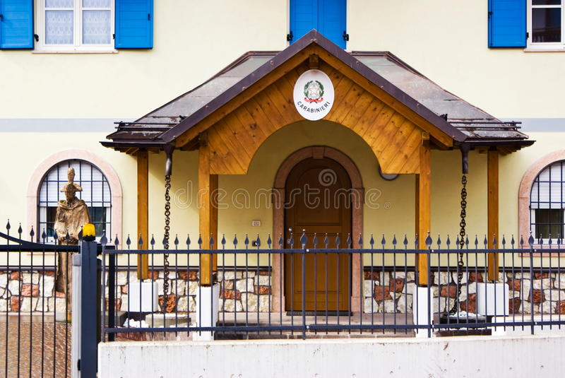 Typical alpine police barracks, Italy. Typical police barracks in an alpine village, Italy stock photo