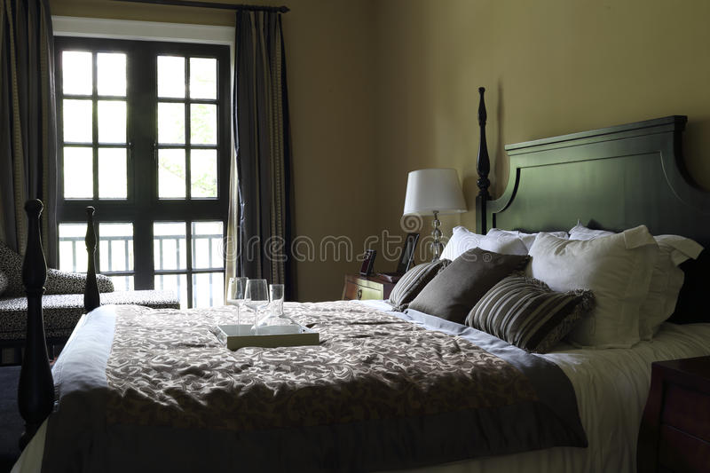 The typical American bedroom stock photos
