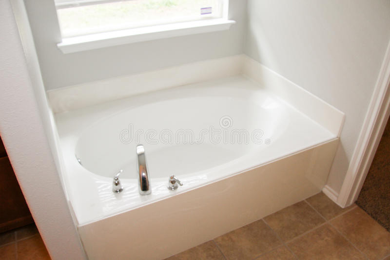 Typical American Hot Tub Inside Home stock images