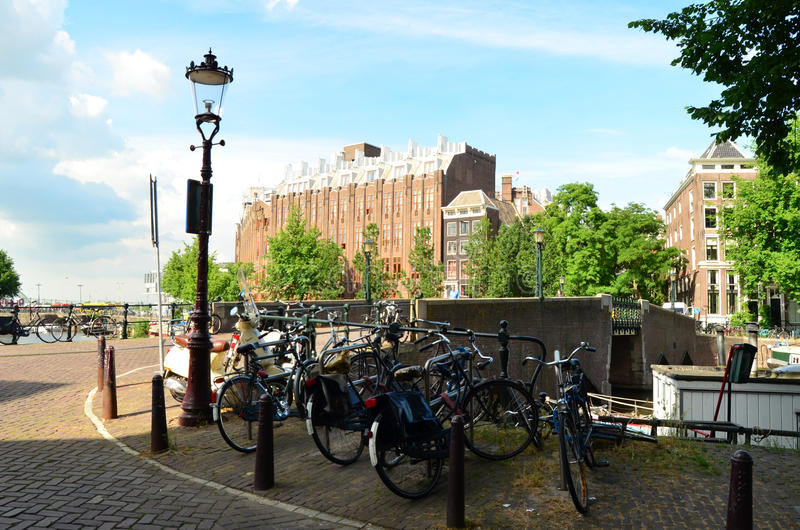 Typical Amsterdam royalty free stock photo